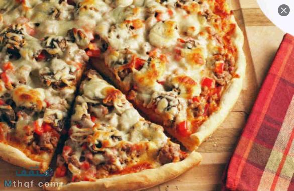 طريقة البيتزا في المنزل
