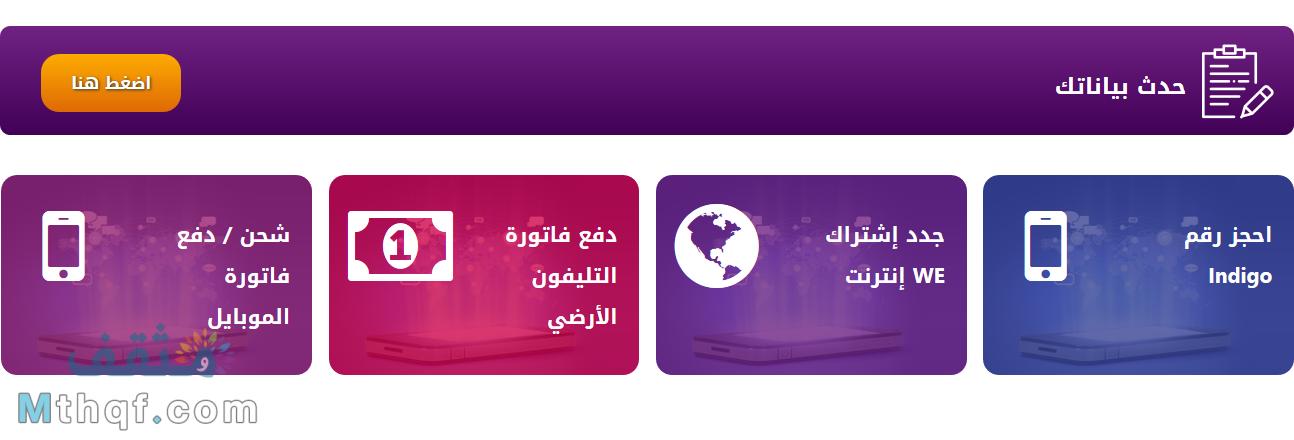 موقع المصرية للاتصالات we