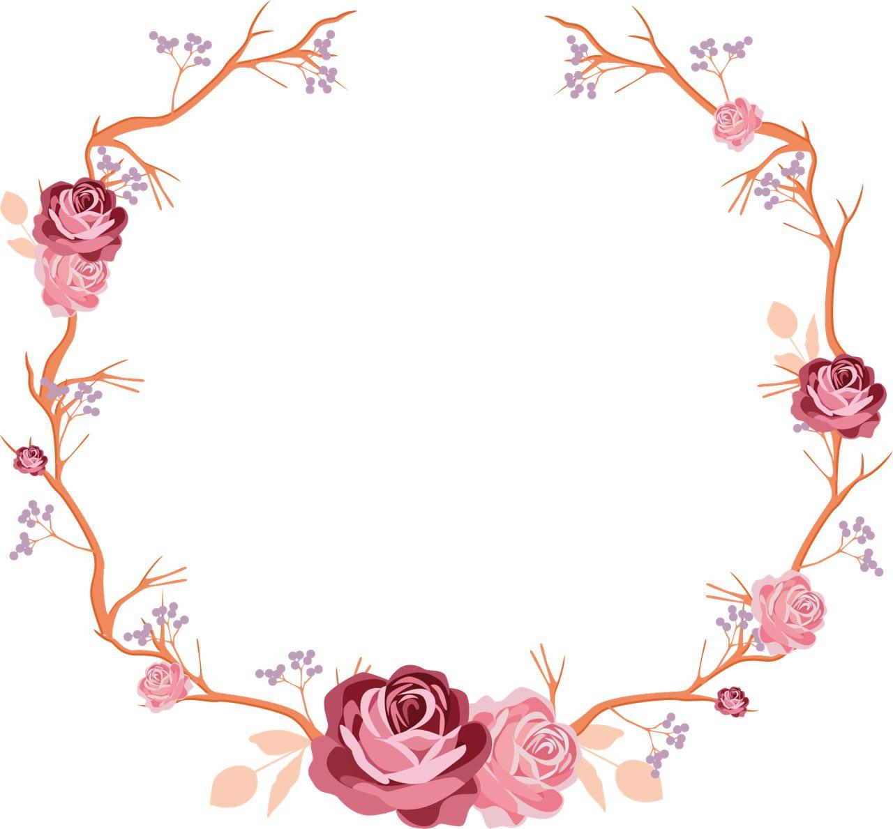 أجمل إطارات مُزينة بالورود والأزهار للـ Word 1