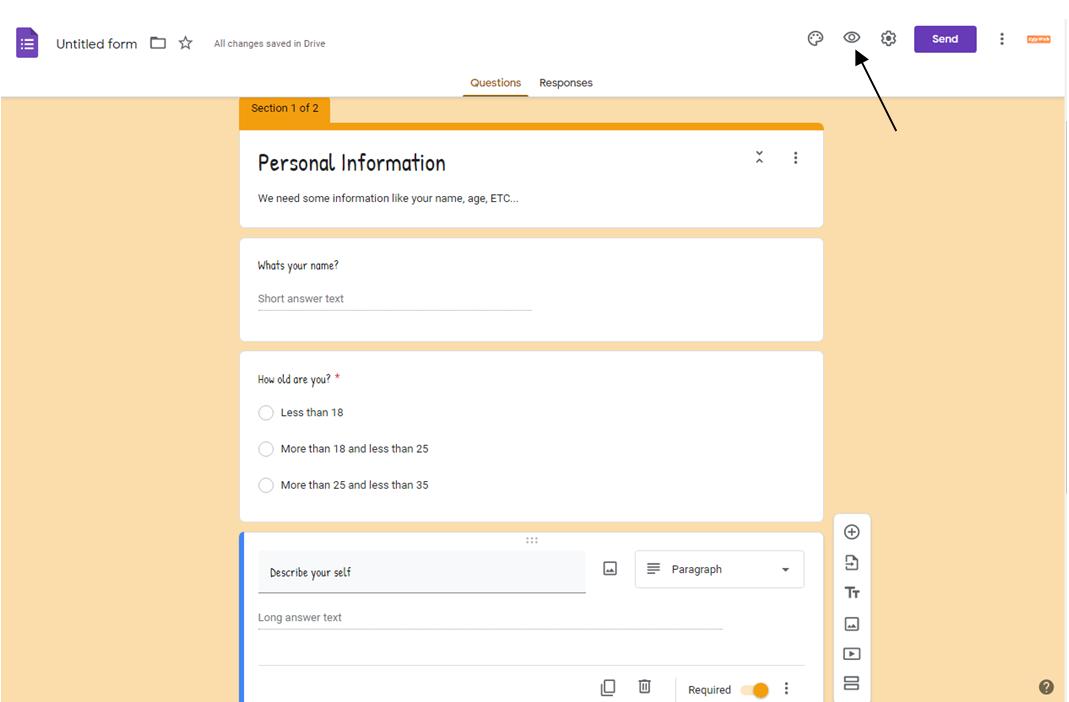 طريقة عمل استبيان على جوجل